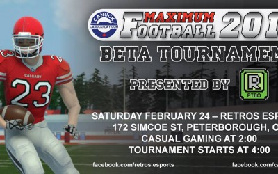 Free Maximum Football 2018 Beta Tournament today at Retro's in Peterborough
